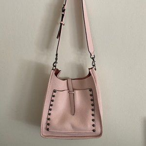 Rebecca Minkoff Unlined Blush Leather Feed Bag